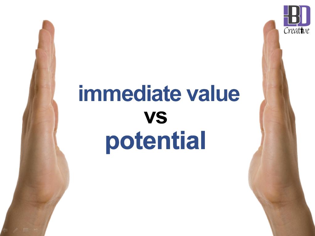 Immediate potential vs social media